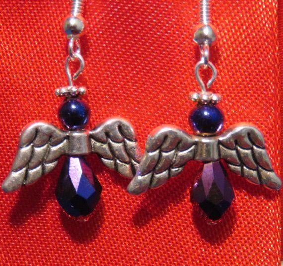 Angel Earrings by GrammySparkles on Etsy