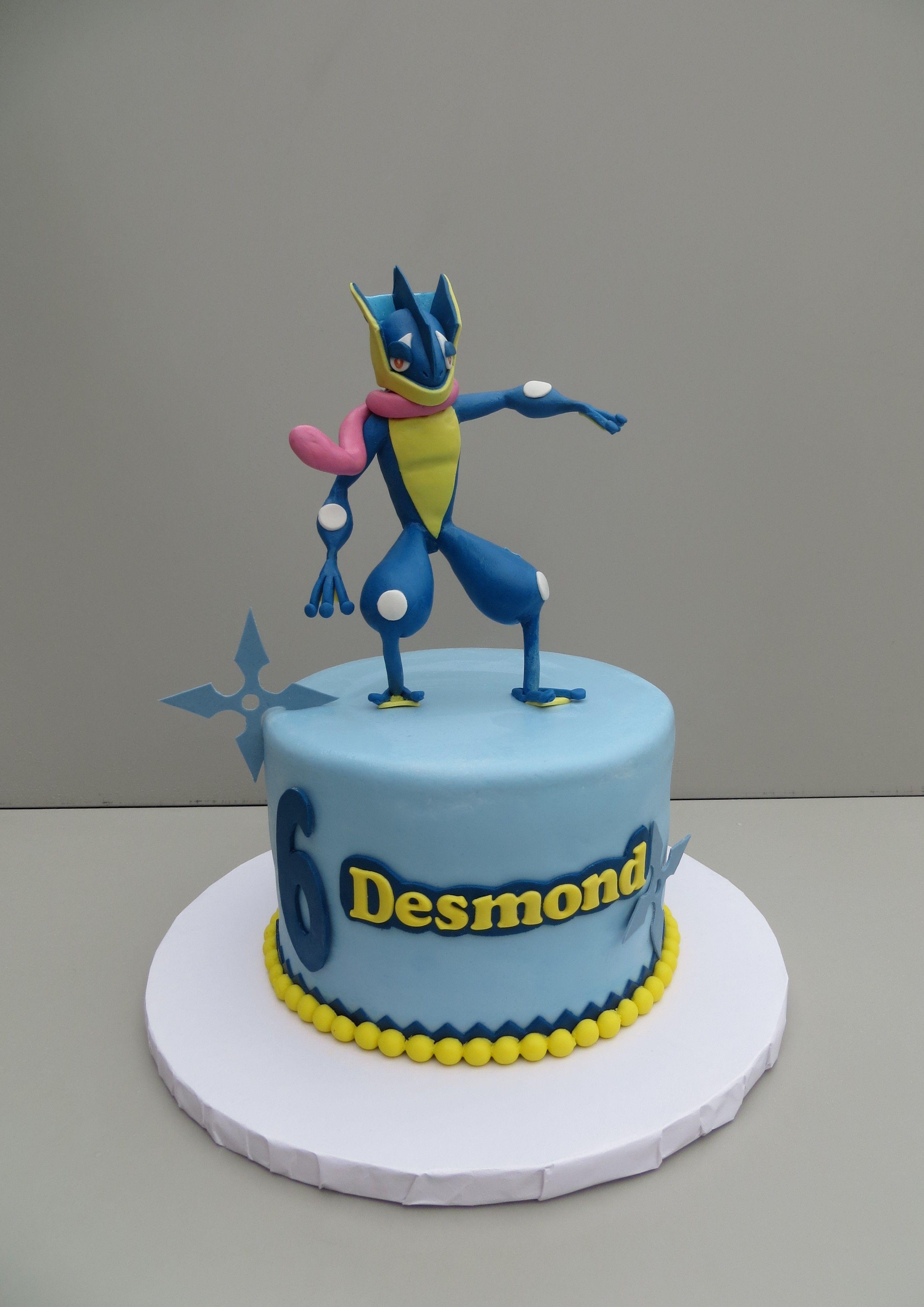 Greninja Pokemon Birthday Cake Pokemon Birthday Boys