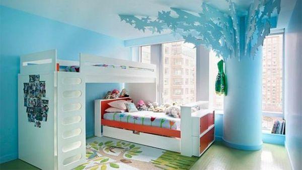 125 Großartige Ideen Zur Kinderzimmergestaltung   Wald Motive Bett  Kinderzimmer Ideen Baum