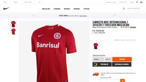[Nike Brasil] Camiseta Nike Internacional I 2016 / 2017 Torcedor Masculina _ Vermelho - COD. 777005612 por R$ 249,90