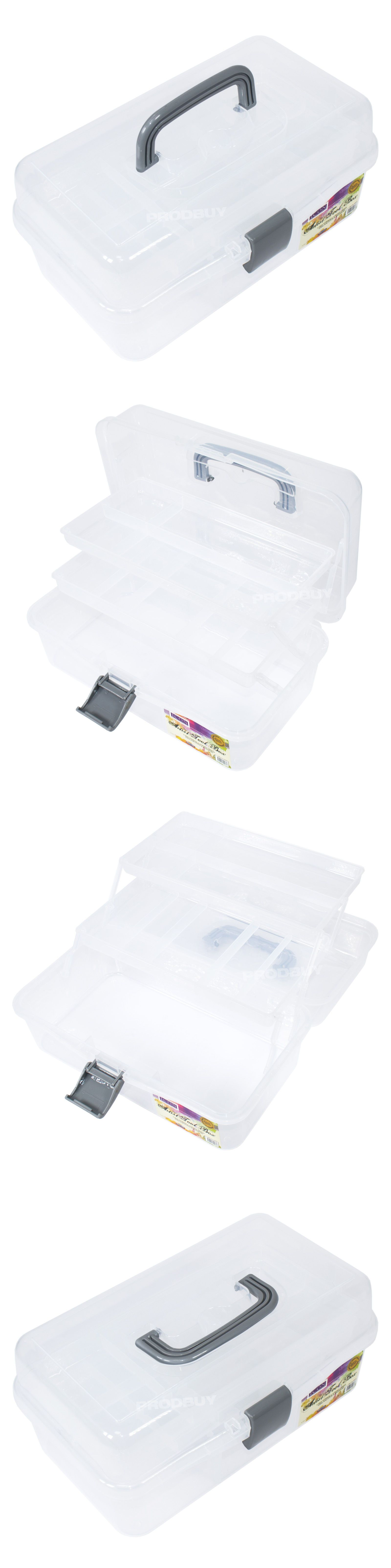 Drawing Supplies Storage Artist S Tool Box Clear