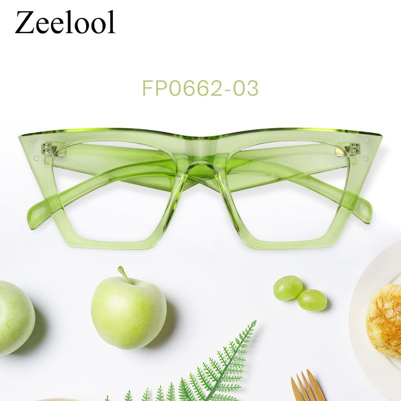 749a9e4d4b1e Cecile Cat Eye Green Glasses FP0662-03 | Love nature! Tree color ...