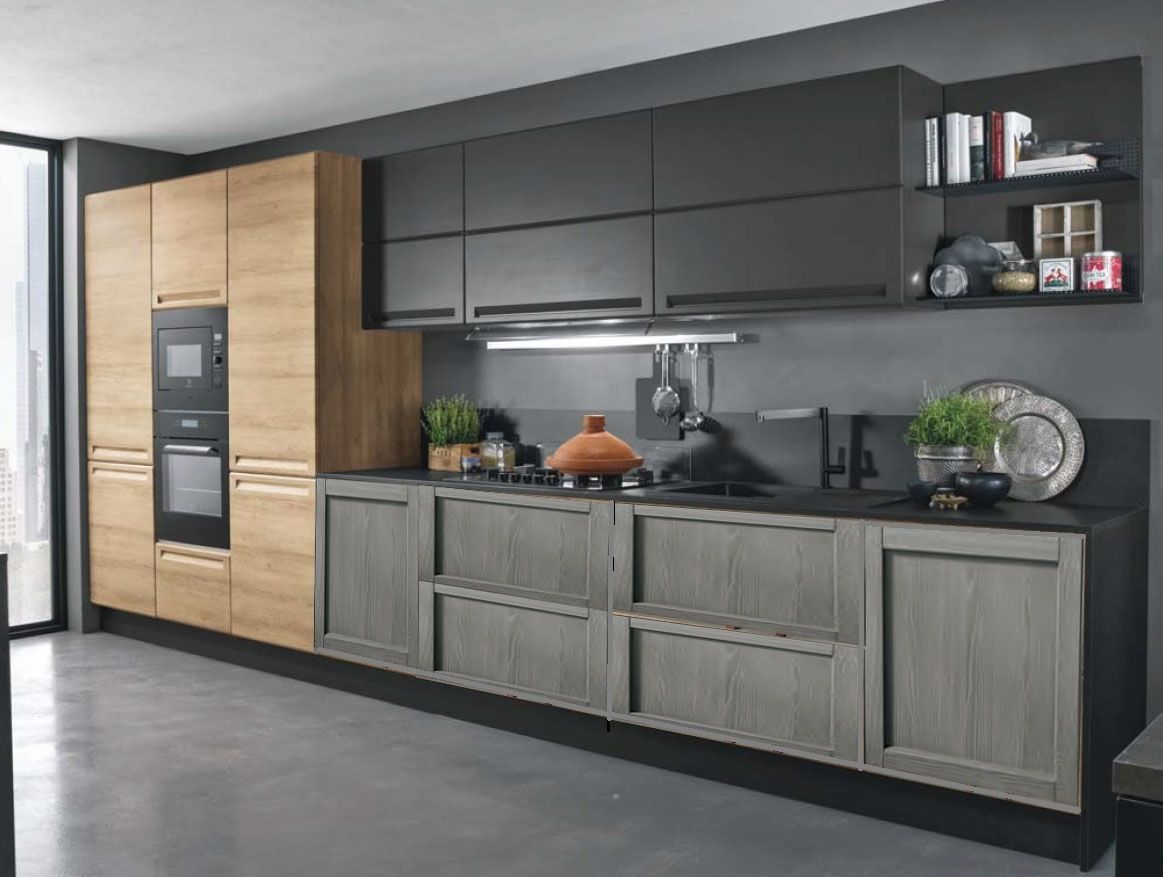Cucina Industriale Moderna Lineare In Offerta Convenienza Outlet