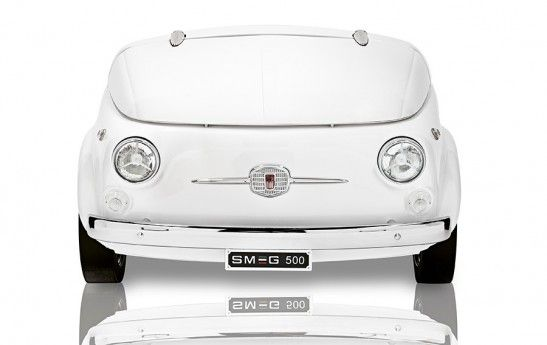 Kleiner Kühlschrank Retro : Mini fridge designed from the front end of a classic fiat 500 the
