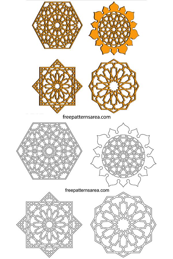 Islamic Art Geometric Design Graphics Vectors Freepatternsarea Islamic Art Islamic Art Pattern Pattern Art
