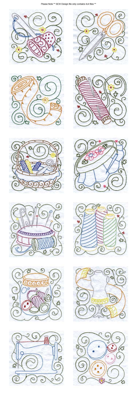 Bloques de coser del bordado Detalles de diseño de la máquina ...
