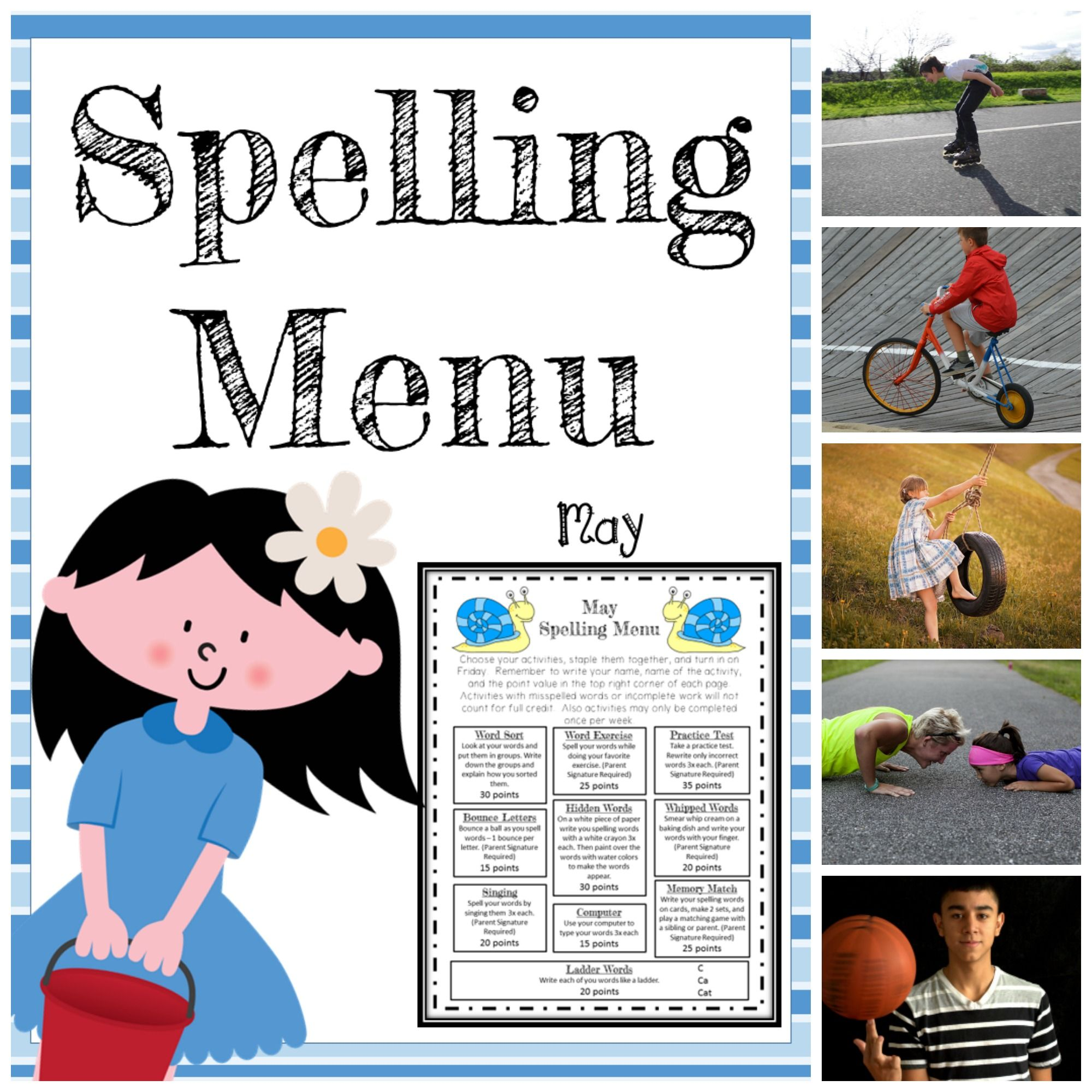 May Spelling Activities