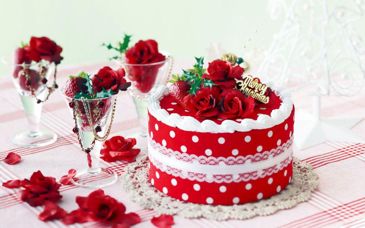 Christmas Cake Romantic Wallpaper Christmas Wallpapers Pinterest