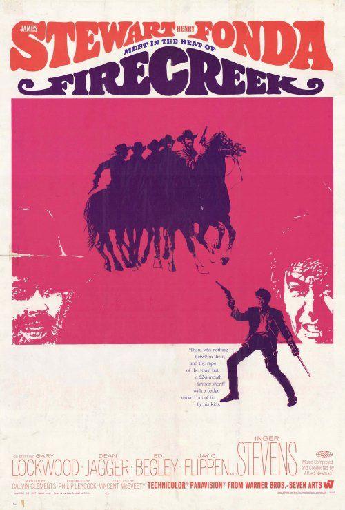 1966 ~ FIRECREEK ~ Henry Fonda, James Stewart, Inger Stevens,