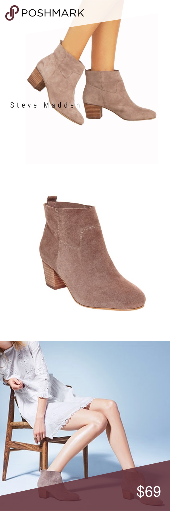 Steve Madden Harber ankle boots taupe