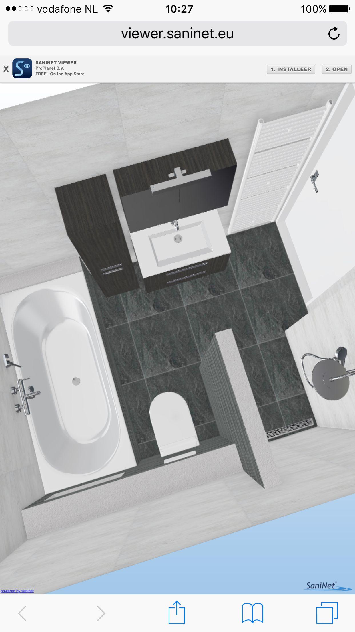 badkamer 3d tekening