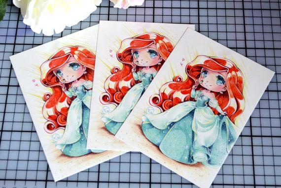 Art Print: Ariel humain (carte postale de taille)