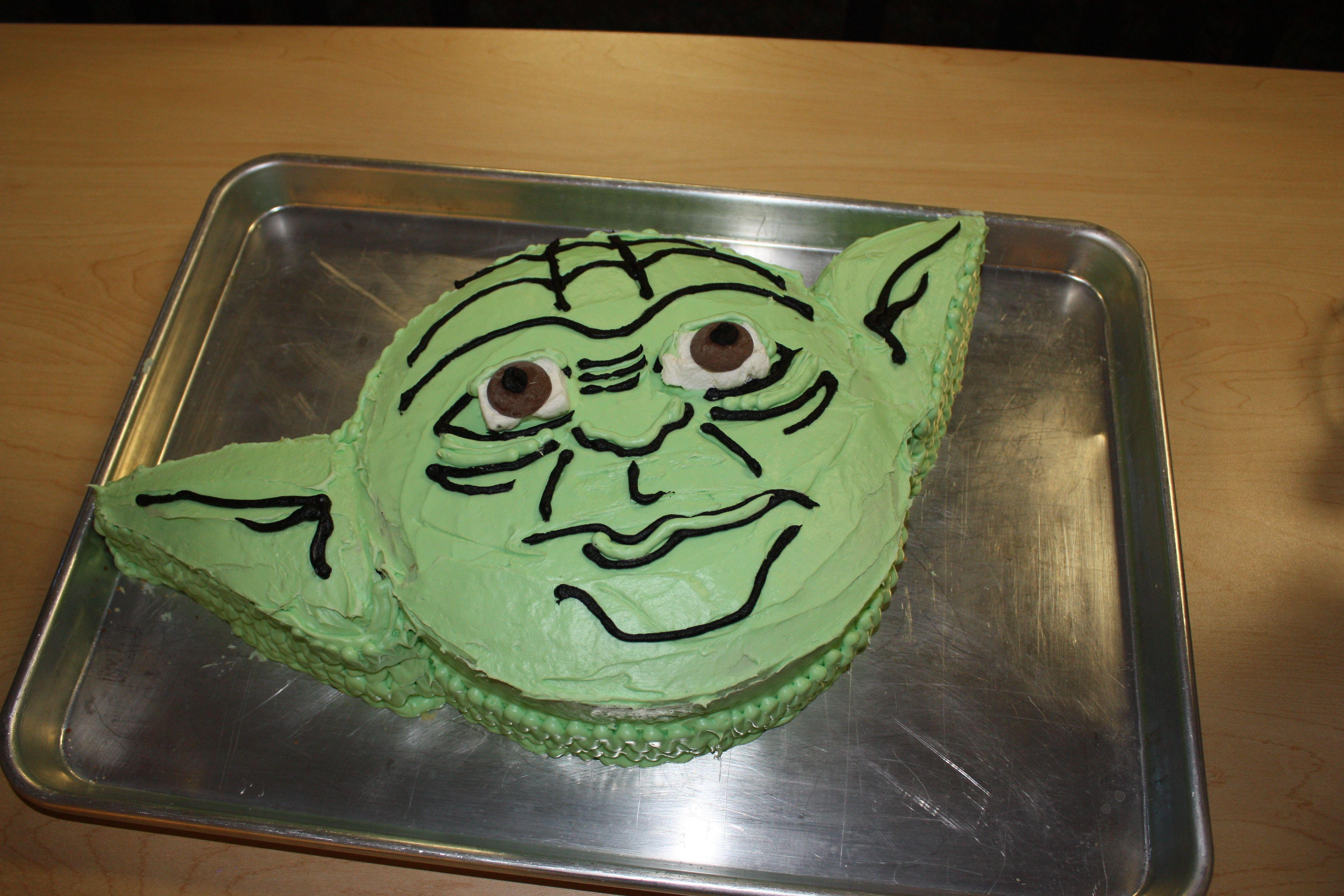 Yoda Cake Kids Loved It Party Ideas Pinterest Yoda Cake