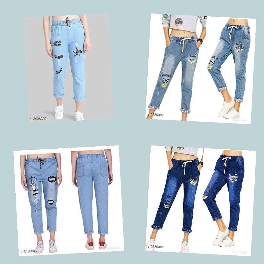 Top 10 Fashion Trends Stylish Denim Fashion Women Jeans