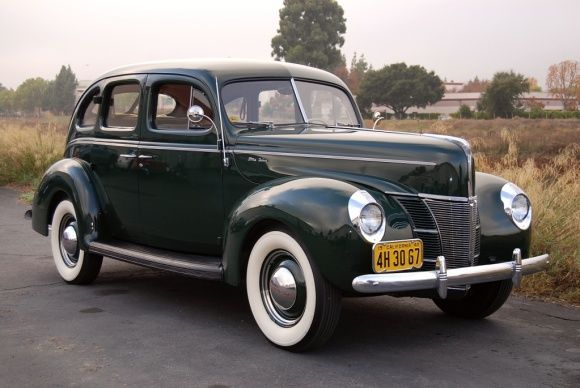 My dad's second car 1954-54; a 1940 Ford DeLuxe Sedan Flathead V8
