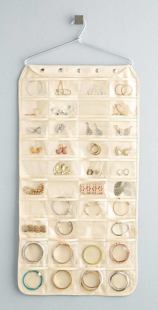 Youll be hooked by our Canvas 80Pocket Hanging Jewelry Organizer