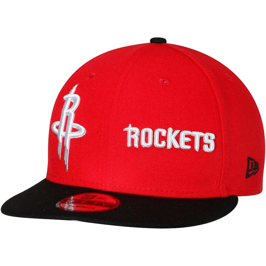 2bb5c07ae76 Men s Houston Rockets New Era Red Black Y2K Double Whammy 9FIFTY Adjustable Snapback  Hat