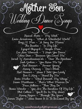 Top 20 Mother Son Dance Wedding Songs Wedding Songs Wedding Dance Songs Mother Son Dance Songs