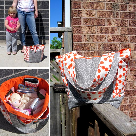 my next diaper bag? free tutorial/pattern from Sew Much Ado Diaper Bag à la Thread Riding Hood