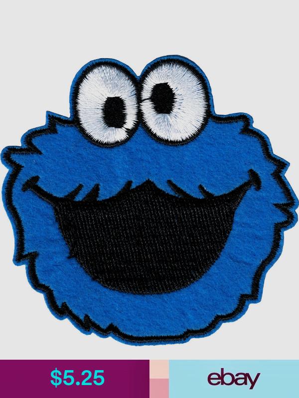 Patch Cookie Monster Face Sesame Street Children S Character 3 Iron On 9990 Kid Character Sesame Street Street Kids