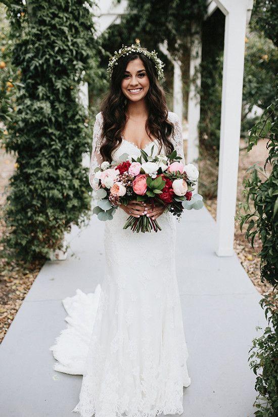 Rustic Elegant Orange County Wedding Wedding Chicks Wedding Dress Long Sleeve Bride Wedding Dresses