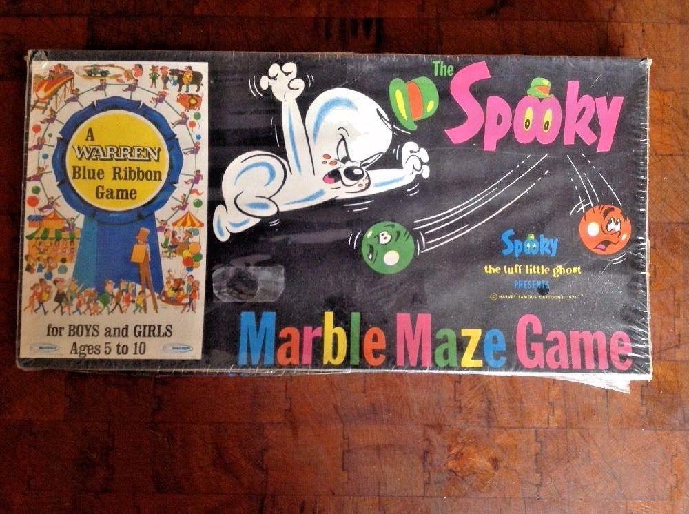 1971 The Spooky Maze Marble Game Warren Blue Ribbon