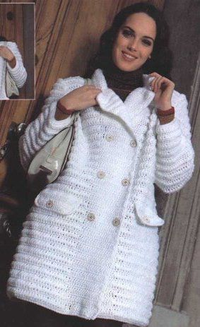 Patrones gratis de abrigos tejidos a crochet