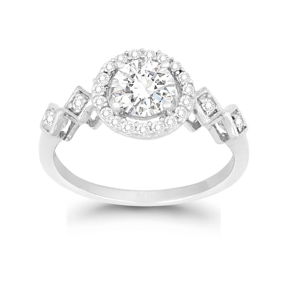 She S A Keeper And So Are Our Beautiful Diamond Engagement Rings Engagementring Diamo Cz Rings Engagement Beautiful Diamond Engagement Ring Monarch Jewelry