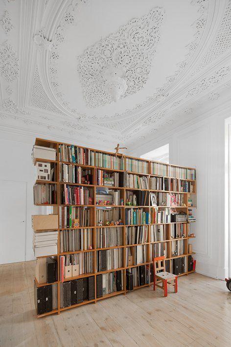 Loft Three Marias in Lisbon, Lisbon, 2014 - AVA – Atelier Veloso Architects #bookshelf