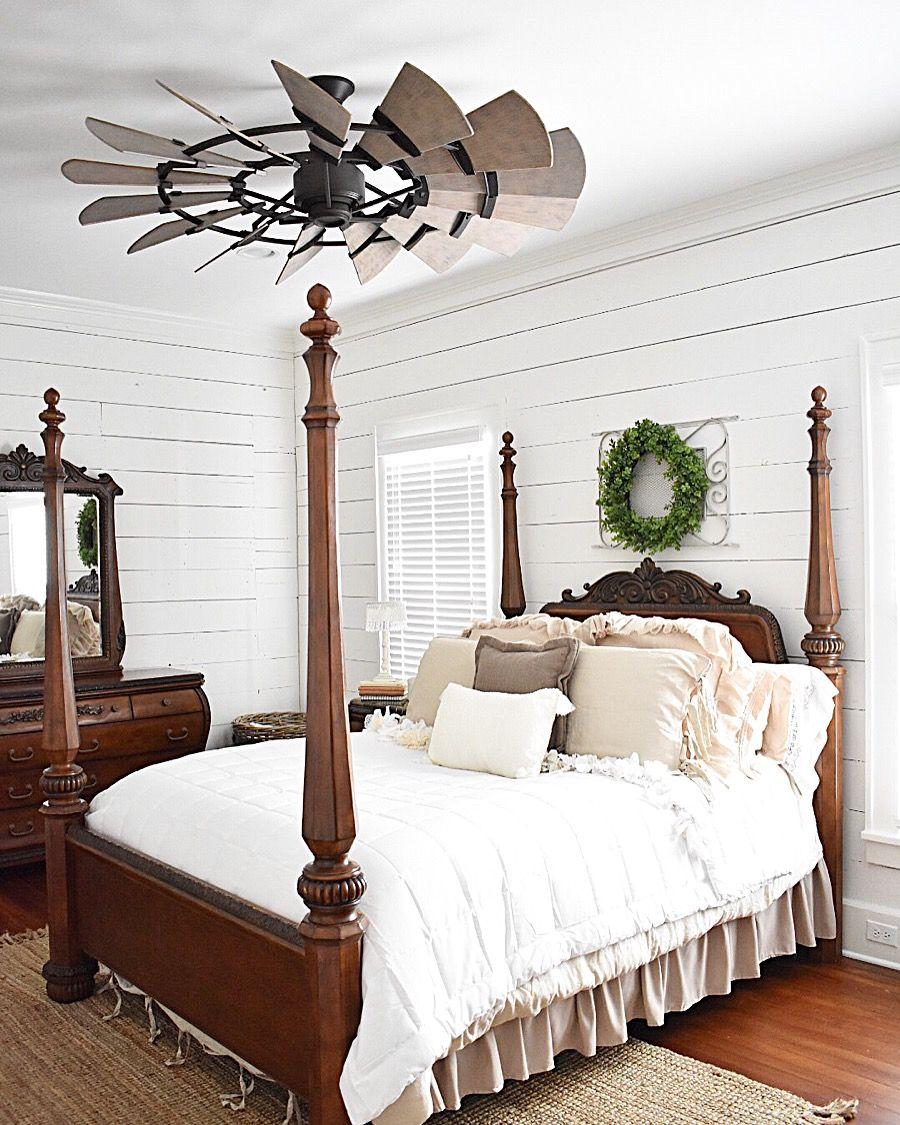 Master bedroom via simplysoutherncottage windmillfan