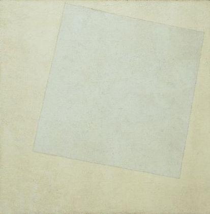 """White on White"" 1918 oil on canvas, 31 1/4 x 31 1/4""  Kazimir Malevich"