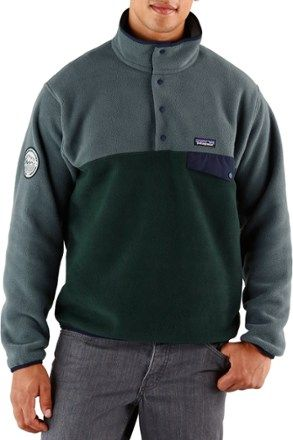 Patagonia Men's Lightweight Synchilla Snap-T Conservation Alliance Fleece Pullover Carbon XXL