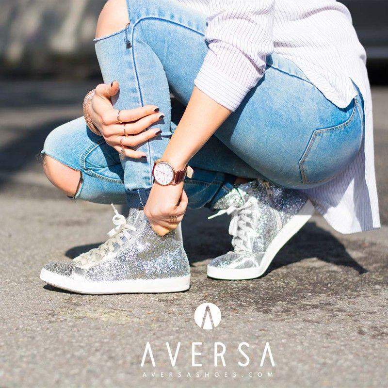 Kammi Sneakers Glitter argento