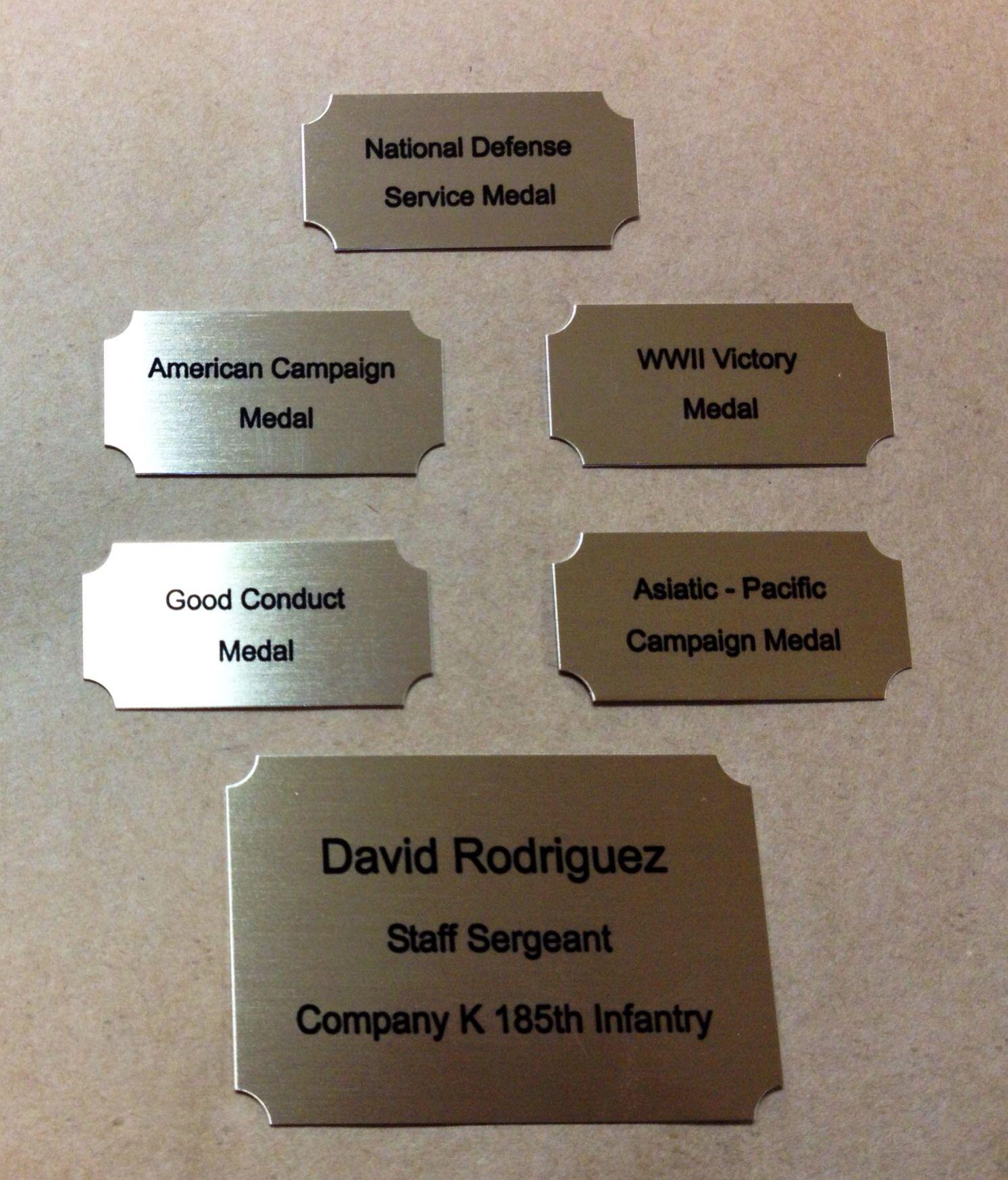 Custom Name Plates For Military Shadow Box Ordered Custom Engraved