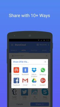 sharecloud share by 1 click