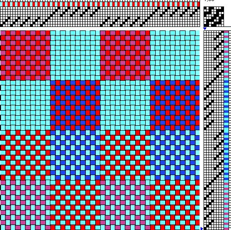 Draft 2 - two-block patterned double weave