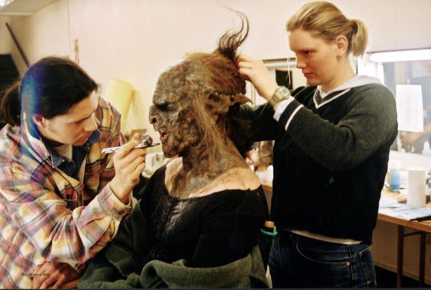 They obviously used a ton of amazing prosthetics in LOTR ...