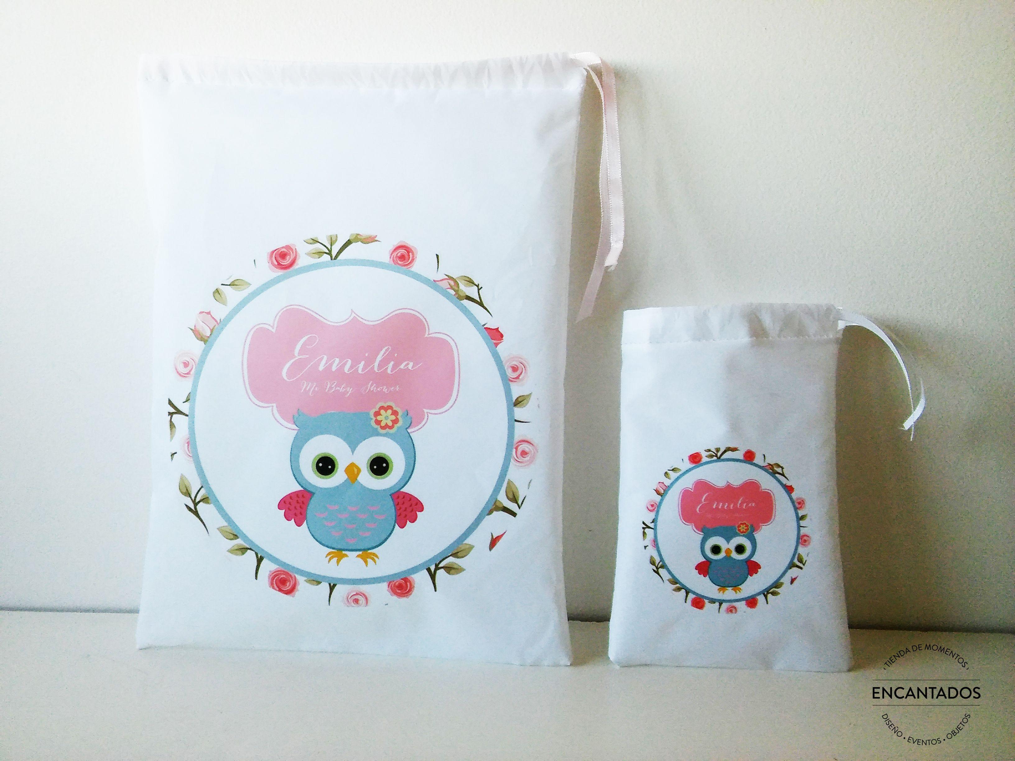 Bolsitas de tela para golosinas, souvenirs. Lechuzitas ♥ BabyShower ♥  Nacimiento ♥ Primer año | Candy bar, Proyectos, Bolsitas