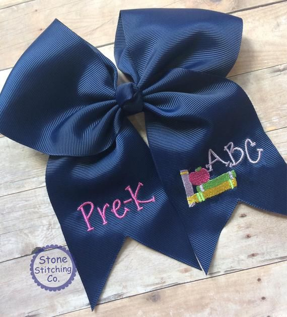 Pre-K hair bow, Pre-K Bow, back to school bow, ABC bow, monogrammed bow, personalized bow, first day of pre-k #firstdayofschoolhairstyles