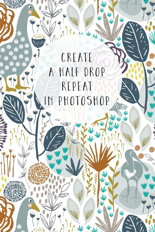Learn how to create a half drop repeat pattern in Photoshop using Smart Objects #surfacepatterndesign