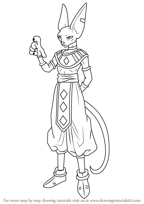 Step by Step How to Draw Beerus from Dragon Ball Z