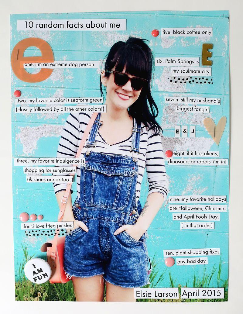 Scrapbook Sunday 10 Random Facts About Me Scrapbook Pinterest