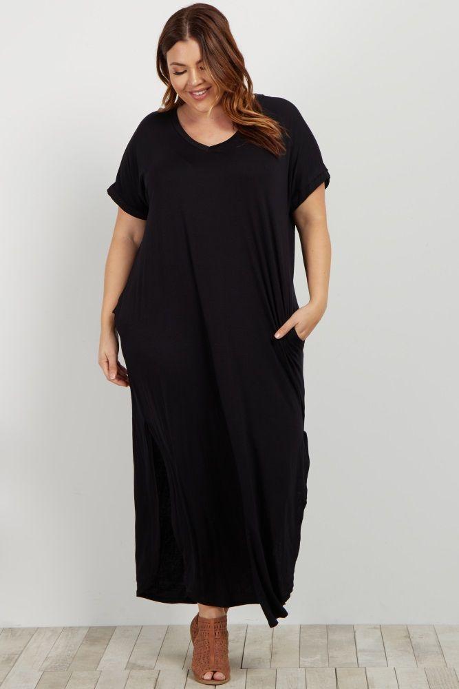 679e4aeb99b50 Magenta Floral Sleeveless Plus Maternity Maxi Dress. Black Basic ...