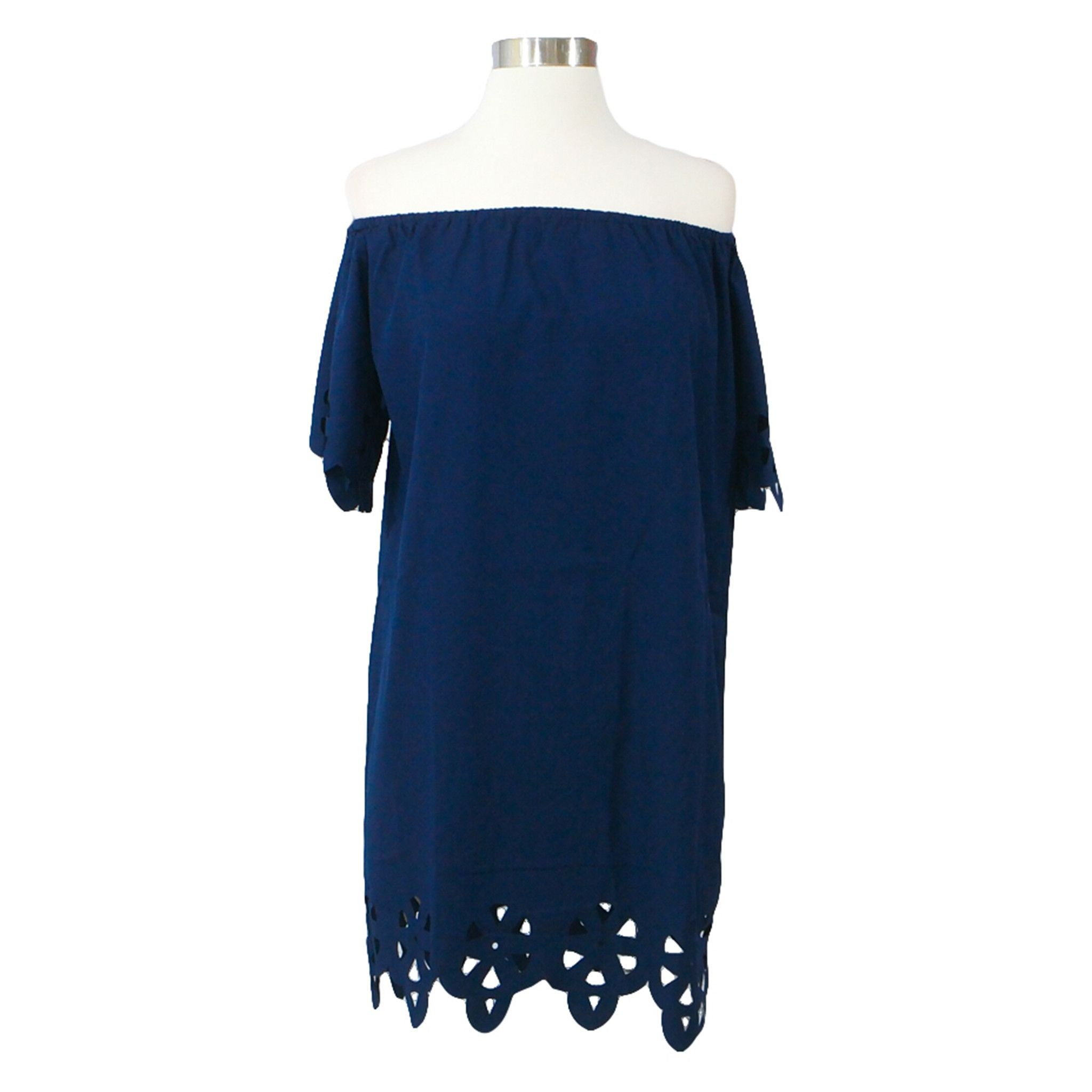 Navy blue off the shoulder cut out dress products pinterest