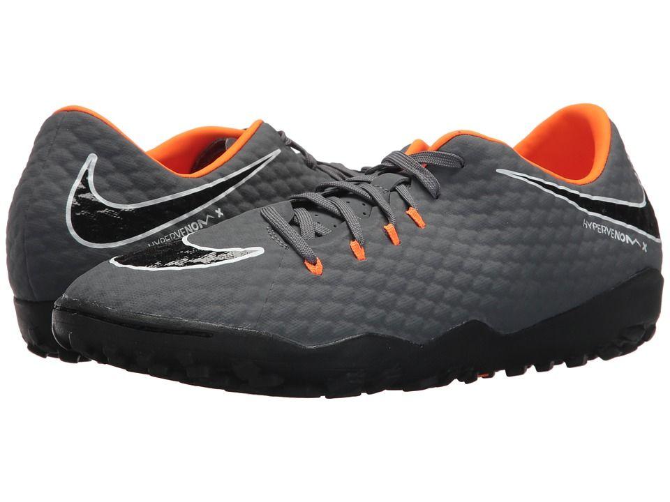 58d201312 Nike Hypervenom PhantomX 3 Academy TF Men's Soccer Shoes Dark Grey/Total  Orange/White