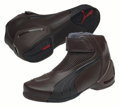 Puma Flat 2 V2 Motorcycle Shoes Brown Brand New  9fe917cd07e
