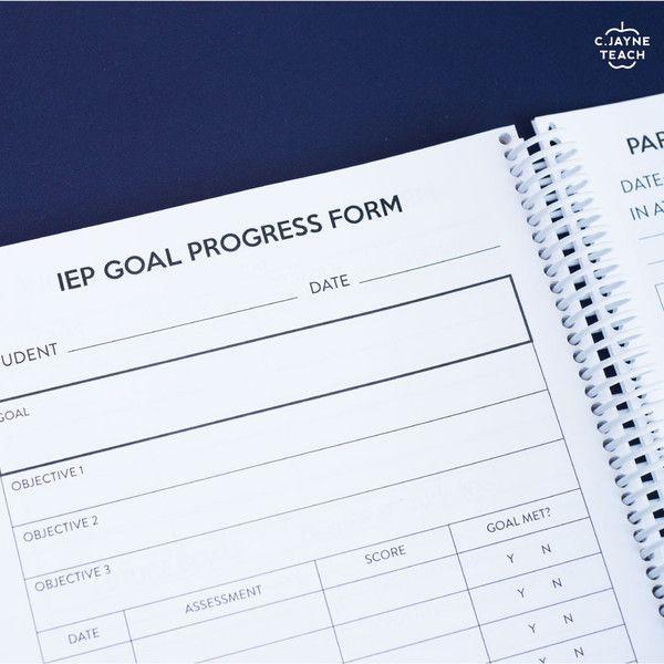 IEP Goal Progress Form: Teacher Anchor®