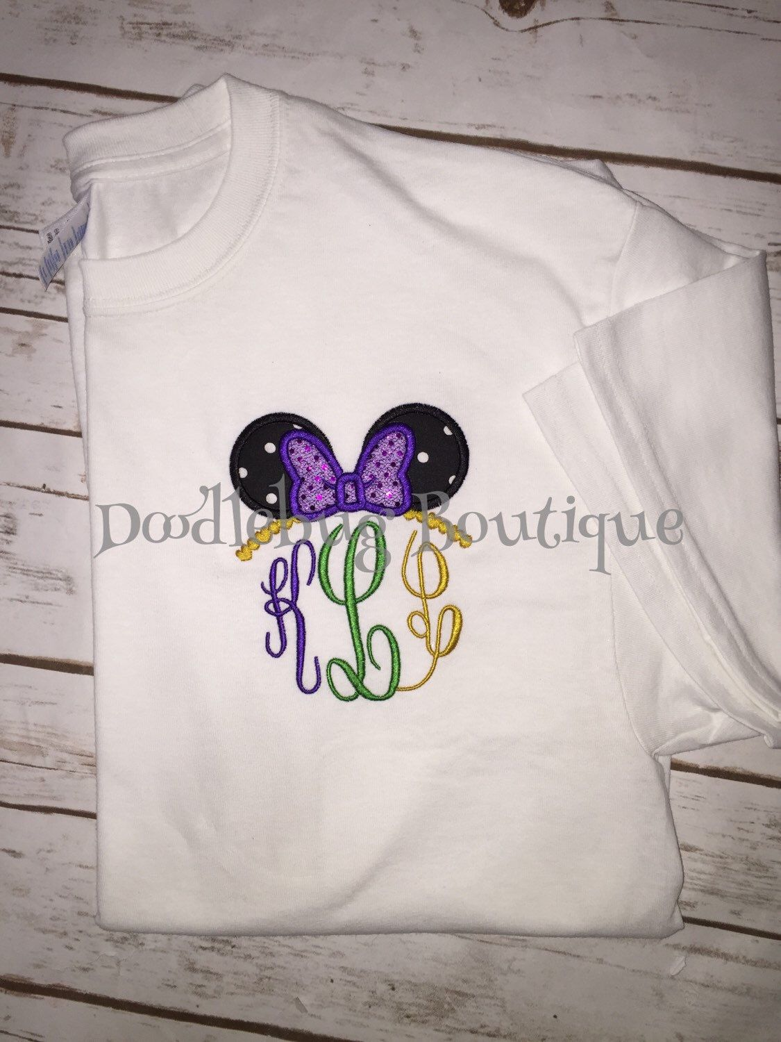 30b14bb3 Disney Silhouettes · Mardi Gras Minnie Mouse ear shirt by  DoodlebugBoutique4u on Etsy https://www.