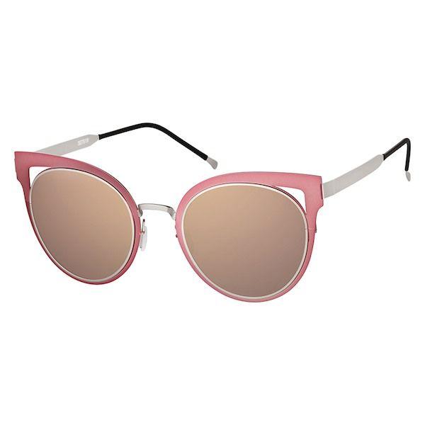 f2bacf94645 Zenni Womens Cat-Eye Prescription Eyeglasses Pink Stainless Steel 327519
