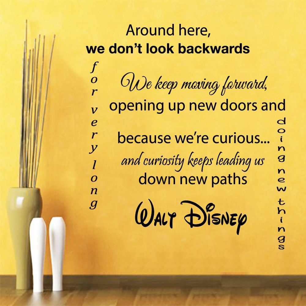 Wall Vinyl Decal Sticker Life Quote We Keep Moving Forward Nursery ...